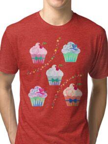 Cupcakes & Stars  Tri-blend T-Shirt