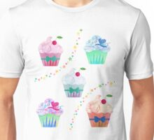 Cupcakes & Stars  Unisex T-Shirt