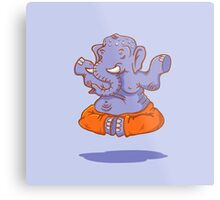 Elephant yoga Metal Print