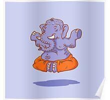 Elephant yoga Poster