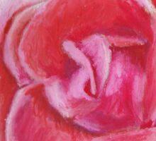 Pink Red Summer Rose Sticker