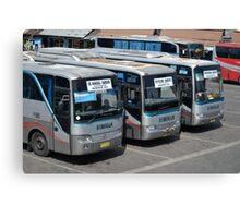 parking bus Canvas Print