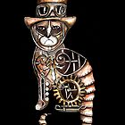 Steampunk kitty by Jenny Wood
