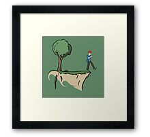 cliff hanger Framed Print
