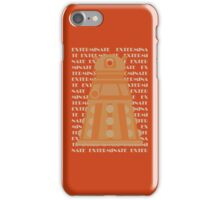 Exterminate Orange iPhone Case/Skin