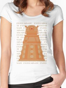 Exterminate Orange Women's Fitted Scoop T-Shirt