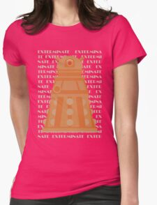 Exterminate Orange Womens Fitted T-Shirt