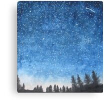Blue Star Sky Canvas Print