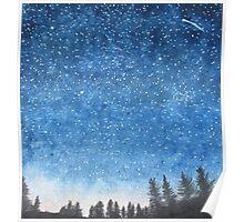 Blue Star Sky Poster