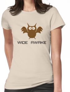 Cute Little Owl Night Life Wide Awake Katy Perry Audioslave Song Lyrics Womens Fitted T-Shirt