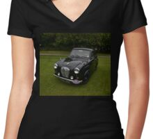 Black Austin A35 Women's Fitted V-Neck T-Shirt