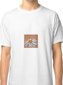 Oil Pastel White Daisy Classic T-Shirt
