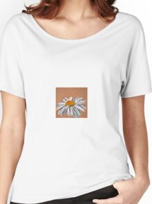 Oil Pastel White Daisy Women's Relaxed Fit T-Shirt