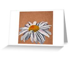 Oil Pastel White Daisy Greeting Card