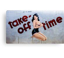 Take-Off Time Canvas Print
