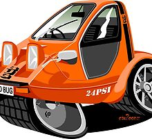 Bond Bug caricature by car2oonz