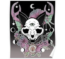 Twilight -- Skull Cat Poster