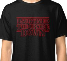 Stranger Things  - I Survived the upside down Classic T-Shirt