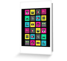 80's Icons Greeting Card