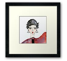 Seriously?  Fashion Fancy Face Framed Print
