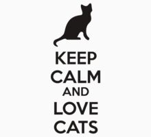 Keep calm and love cats Kids Clothes