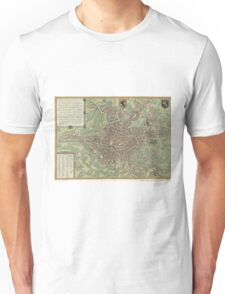 Vintage Map of Ghent Belgium (1650) Unisex T-Shirt