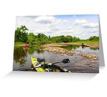 Kayaking the Salmon River Reservoir  Greeting Card