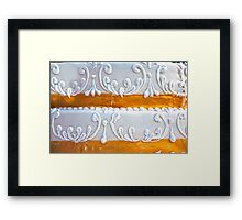 Wedding Cake Texture Framed Print