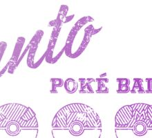 Purple Kanto Poké Ball Company on white Sticker