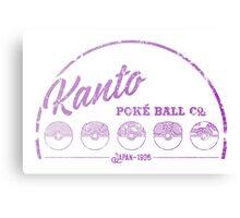 Purple Kanto Poké Ball Company on white Canvas Print