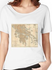 Vintage Map of Greece (1894) Women's Relaxed Fit T-Shirt