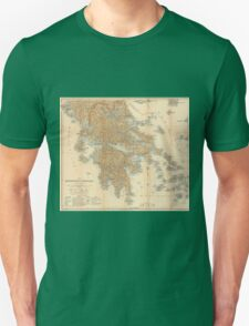Vintage Map of Greece (1894) Unisex T-Shirt