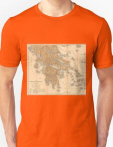 Vintage Map of Greece (1894) Unisex T-Shirt