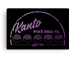 Purple Kanto Poké Ball Company Canvas Print