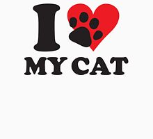 I love my cat Womens Fitted T-Shirt