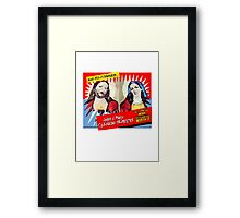 Jesus and Mary Cleaning Services Framed Print