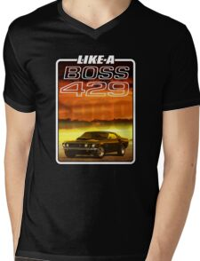 Like a Boss - Sunset Mens V-Neck T-Shirt