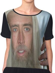 Nicolas Cage the white. Chiffon Top