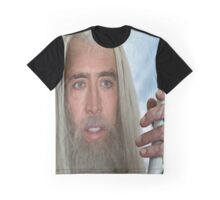 Nicolas Cage the white. Graphic T-Shirt