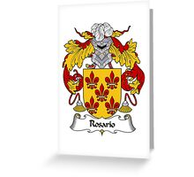 Rosario Coat of Arms/Family Crest Greeting Card