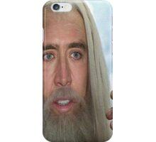 Nicolas Cage the white. iPhone Case/Skin