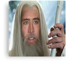 Nicolas Cage the white. Canvas Print