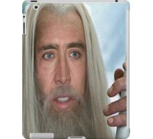 Nicolas Cage the white. iPad Case/Skin