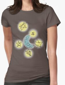 Moon+Stars Womens Fitted T-Shirt
