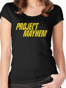 Fight Club Quote - Project Mayhem  Women's Fitted Scoop T-Shirt