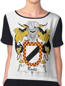 Ruiz Coat of Arms/Family Crest Chiffon Top
