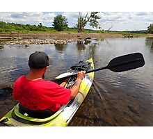 Kayaking the Salmon River Reservoir  Photographic Print