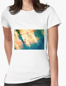 Swimming Pool 01A - Abstract Womens Fitted T-Shirt