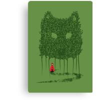 Red & The Wolf Canvas Print