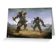 Brawl Greeting Card